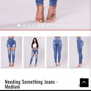 "Fashionova ""needing something jeans "" -medium"